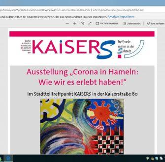 """Ausstellung """"Das Corona-Virus in Hameln – Wie wir es erlebt haben!"""""""