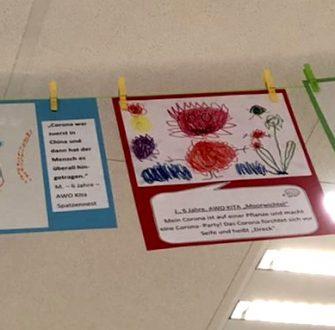 Wenn Corona ein Gesicht hätte: Kinder aus AWO Kindergärten malen ihre Gefühle und Gedanken zu Corona