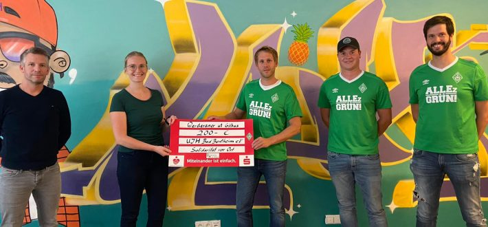 Werderaner ut Gilhus zeigen Solidarität vor Ort