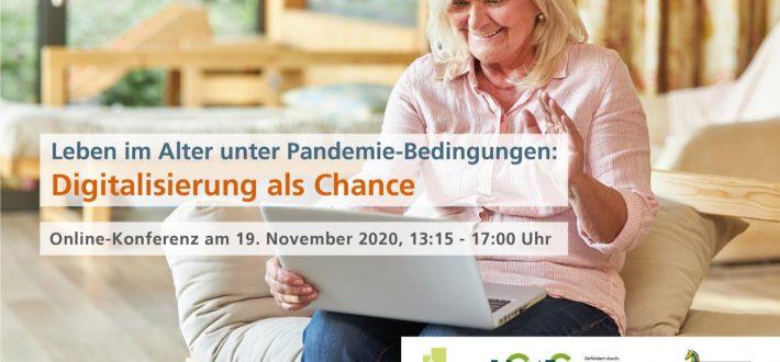 """Online-Konferenz """"Leben im Alter unter Pandemie-Bedingungen: Digitalisierung als Chance"""""""