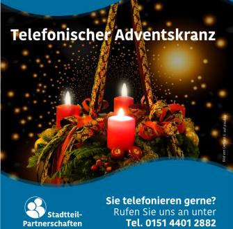 Telefonischer Adventskranz