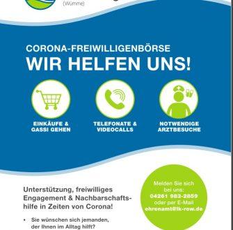 Corona-Freiwilligenbörse Rotenburg: Wir helfen uns!