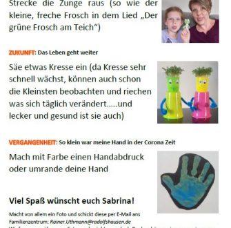 Mitmach-Aktion für die Kleinen: Gegenwart – Zukunft – Vergangenheit