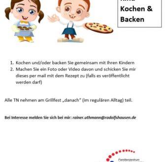 Radolfshausen: Eltern-Kind-Kochen und Backen