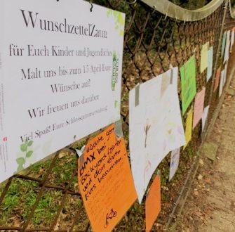 Kindern und Jugendlichen eine Stimme geben: WunschzettelZaun am Eversten Holz
